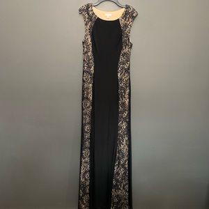 Cache Dresses - Cache Black Sequins Floor Length Formal Dress